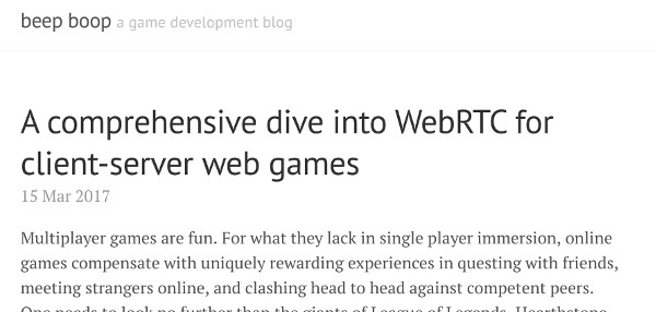 Writing about WebRTC projects improves your knowledge